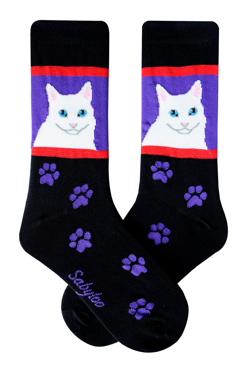 White Cat Socks
