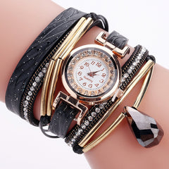 Lady Rose Gold Luxury Watch With Wristband
