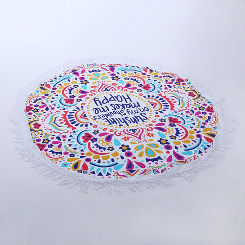Round Printed Beach Towel