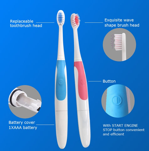 replaceable wave shape brush head Seago Sonic Toothbrush 22,000 Strokes/minute