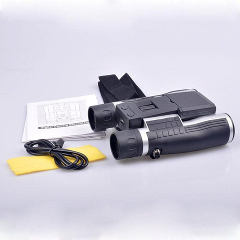 package contents 12x32mm Digital Camera Binoculars, 2 Inch LCD Display, 5MP Video/Photos Recorder