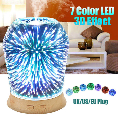 Aromatherapy 3D LED Ultrasonic Humidifier Diffuser Essential Oils Lamp Essential Oil Diffuser