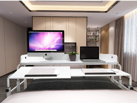 Combination Double Tilting Bed Table Mobile Computer Desk