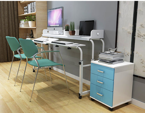 a perfect computer setup for one or two people this adjustable computer desk