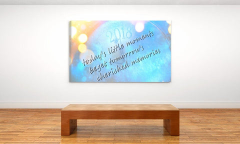 "Canvas Art Print ""Cherished Memories"" Motivational Wall Decor Poster in Office Setting"