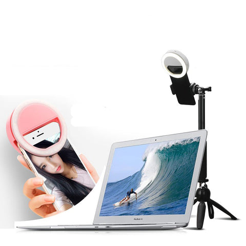 Tripod Selfie Mobile Phone iPhone GoPro Portable LED Light Instagram Facebook Photo Video Kit