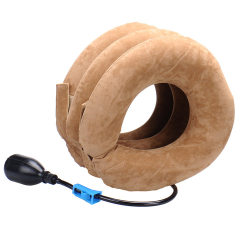 relive tension and pain with Inflatable Cervical Neck Traction Support