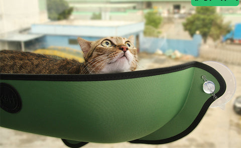 your puss can birdwatch in safety in her cat hammock
