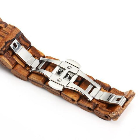 Bewell Wooden Wristwatch clasp view