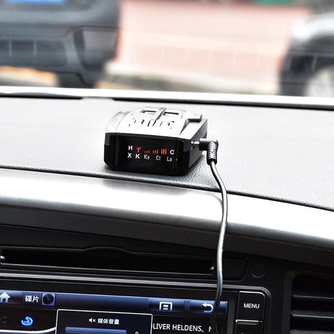 speed camera alerts with 360 Degrees 16 Band Scanning LED Radar Detector