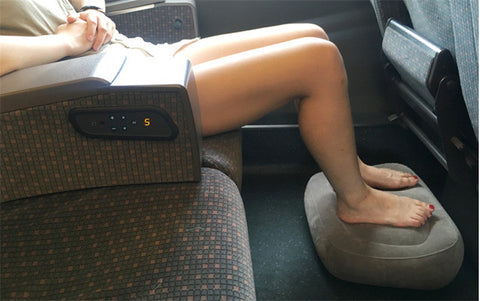 In a confined space this grey one layer Travelsmart Inflatable Footrest is great