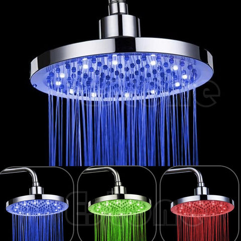 LED Round Colour Changing Shower Head