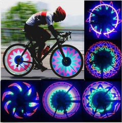 Bicycle Wheel LED Lights Cool Spoke 32 Patterns Flash Cycling Lamp Safety Colourful night safety