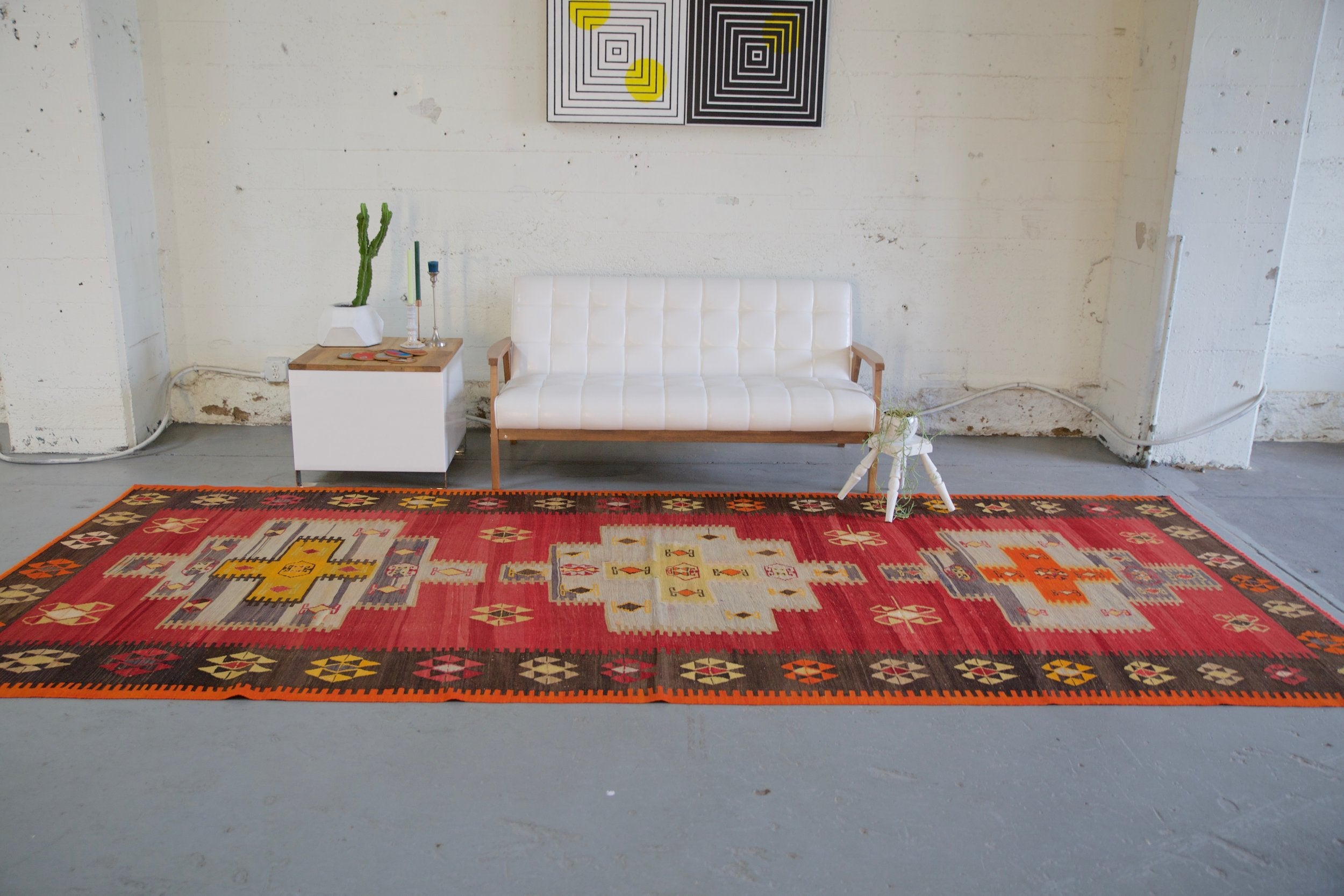 turkish rug, vintage rug, flat weave, kilim rug, large area rug, square rug, Wild Shaman, Portland, Oregon, rug store, rug shop, local shop,  bright colors, area rug, bold color