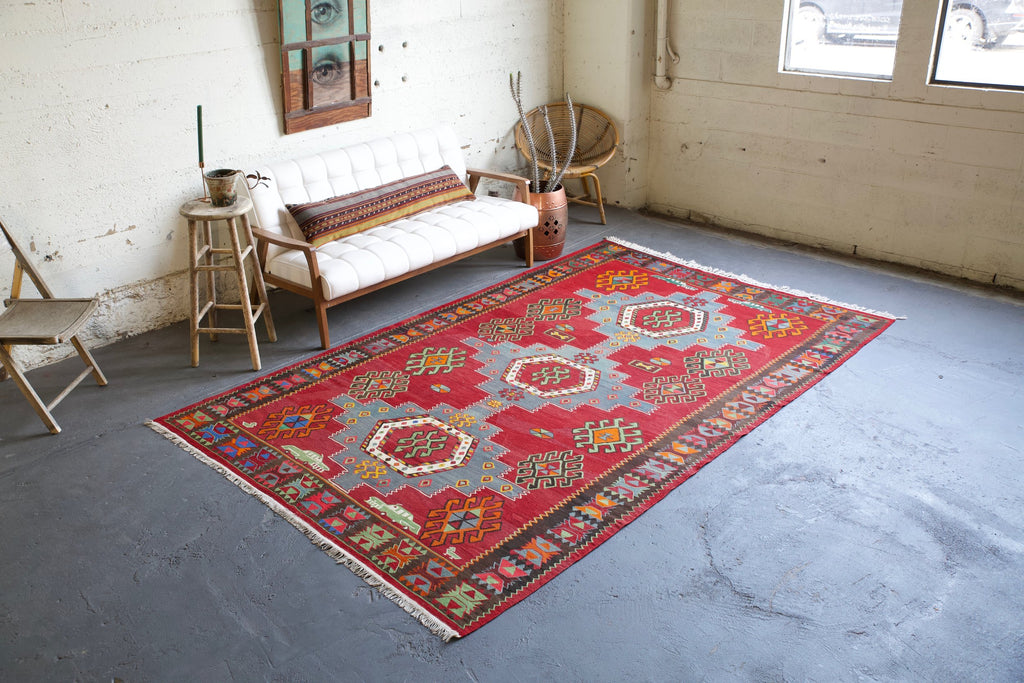 old-kazak-kilim-63ftx106ft