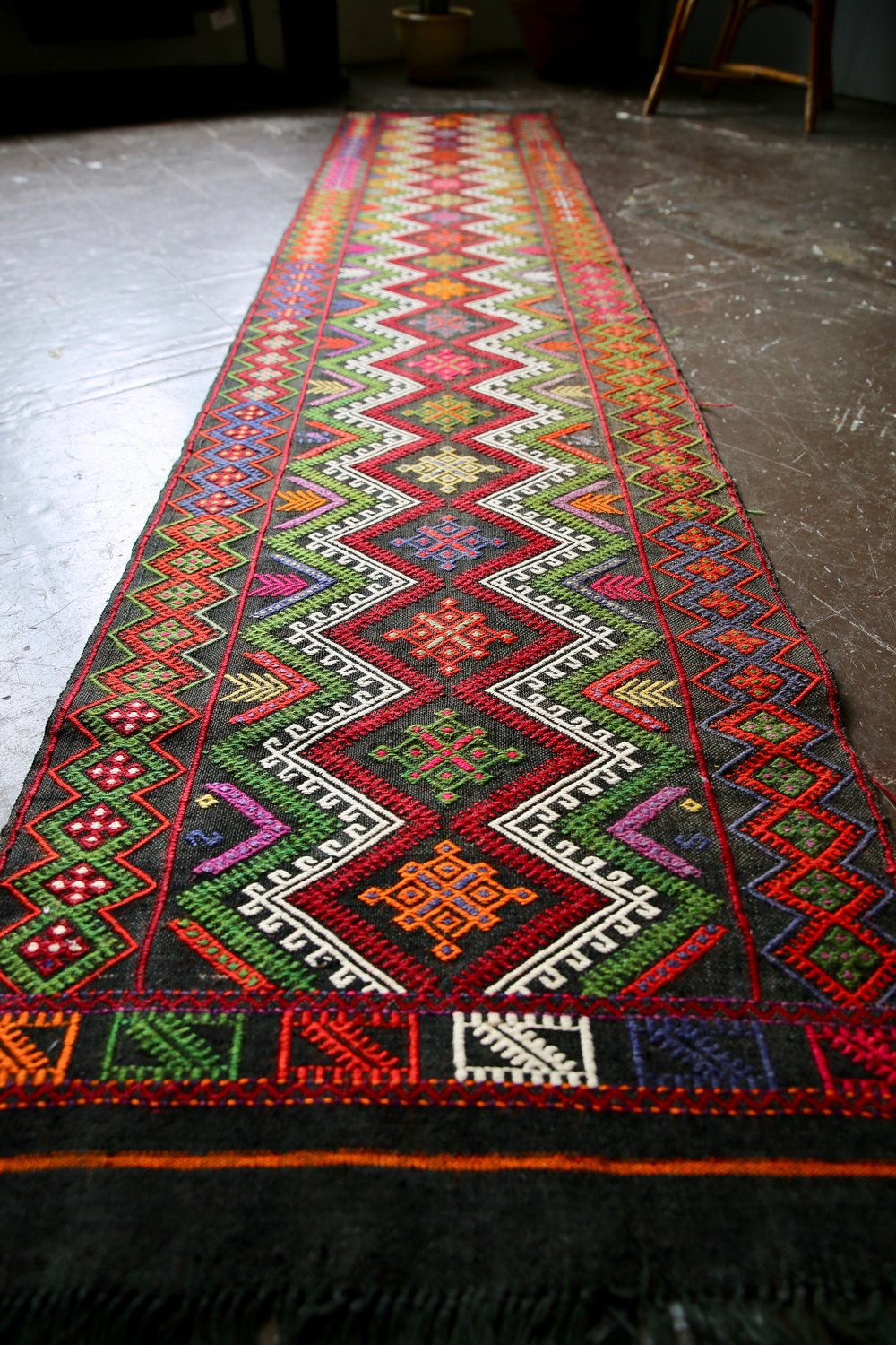 Old Sivas Kilim Runner 2.1ft x 10ft