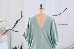 Pestemal Kaftan in sea green (one size)