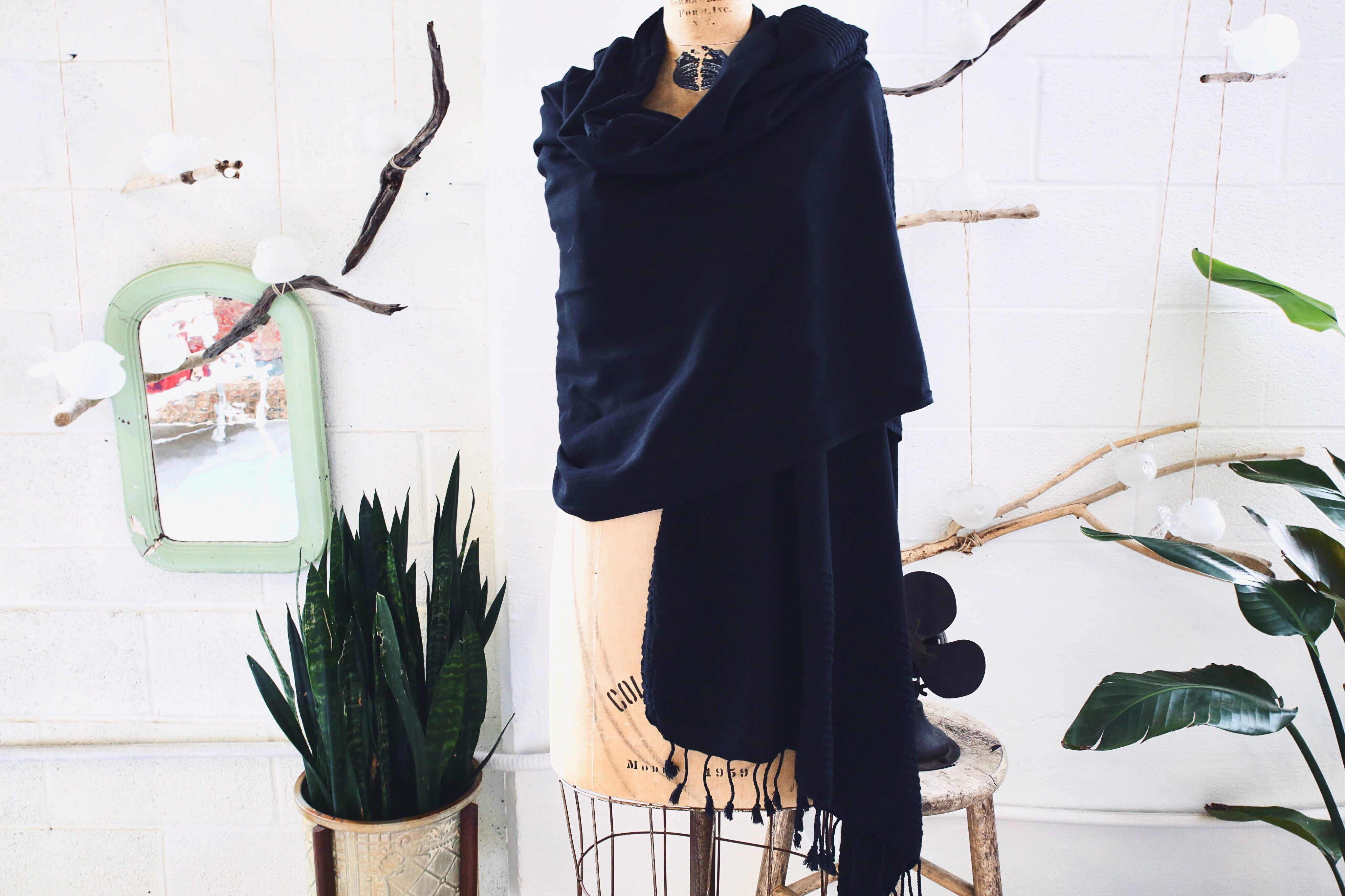 Summer Pestemal Scarf in Black