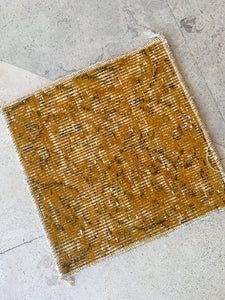 Custom Order Vintage Overdyed Patchwork Rug overdyed in Mustard