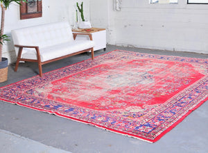 Old Demirci Oushak Rug 9.6ftx12.4ft