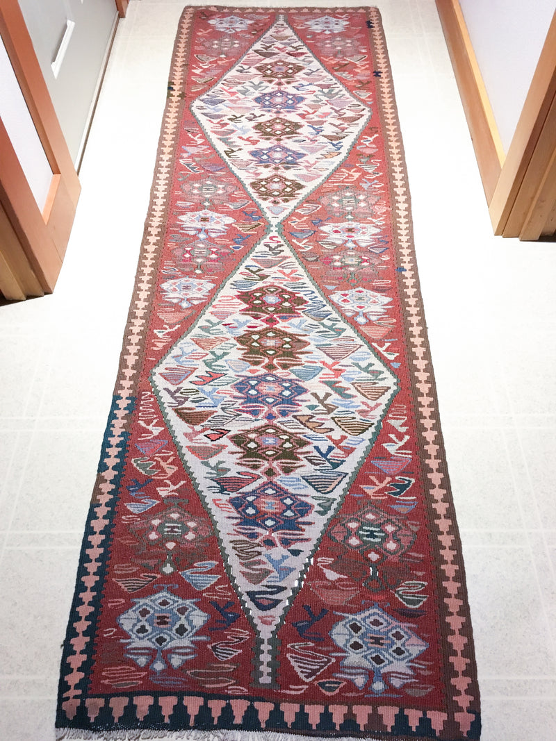 Vintage Turkish Van Kilim Runner