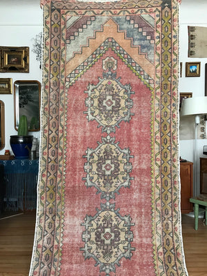 Vintage Turkish Anatolian Rug Runner