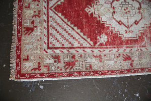 Old Turkish Faded Anatolian Runner Rug 2.11ftx9.9ft