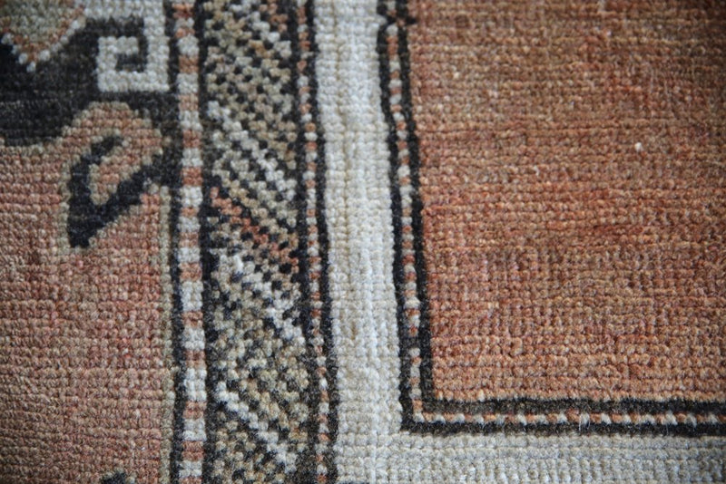 Old Faded Anatolian Turkish Rug 2.9ftx5.6ft