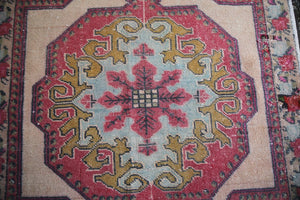 Vintage Faded Turkish Anatolian Rug 4.5ftx6.10ft