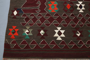 Old Balikesir Yuncu Kilim 5.5x8.4ft