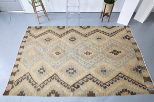 Old Denizli Kilim 6.3ftx9.8ft