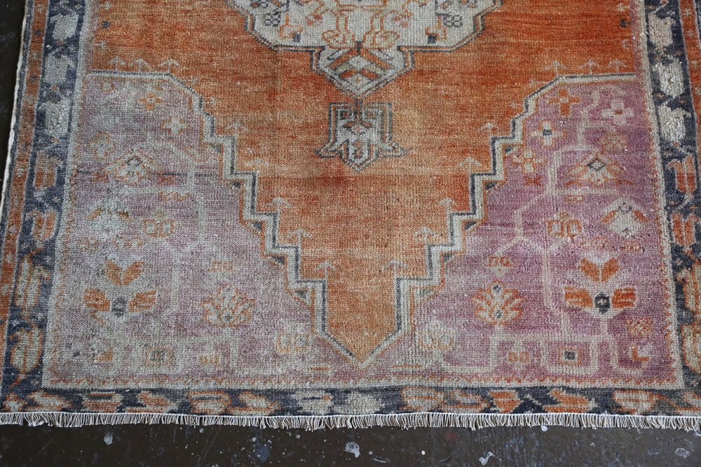 Vintage Faded Anatolian Rug 3.8ftx6.5ft