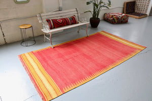 Old Bodrum Bos Kilim 4.6x8.6ft