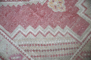 Vintage Faded Anatolian Rug 3.8ftx6.1ft