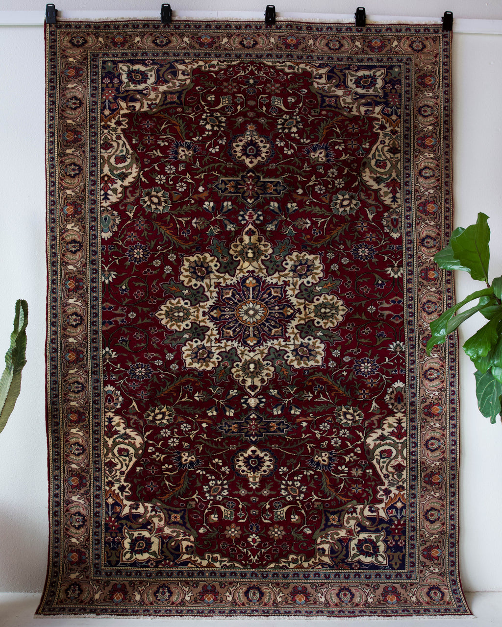 Vintage Turkish rug in a living room setting, pile rug, Turkish rug, vintage rug, portland, rug shop, bright colors, wild shaman, soft rug, bold color, Portland, Oregon, rug store, rug shop, local shop, antique rug