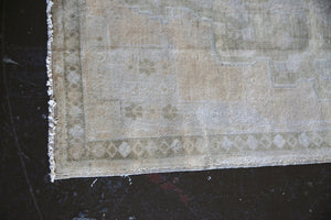 Old Faded Anatolian Turkish Rug 3.7ftx7ft
