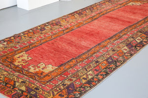 Old Anatolian Runner Rug 5.3ftx13ft