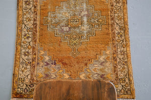 Old Anatolian Runner Rug 2.11ftx9.6ft