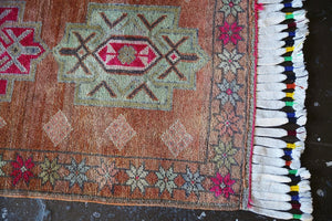 Vintage Kurdish  Herki Runner 2.9ftx11.7ft