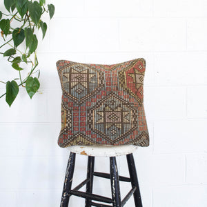 "Turkish Kilim Pillow 16""x16"""