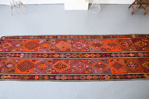Old Van Kilim Runner 4.3ftx14ft