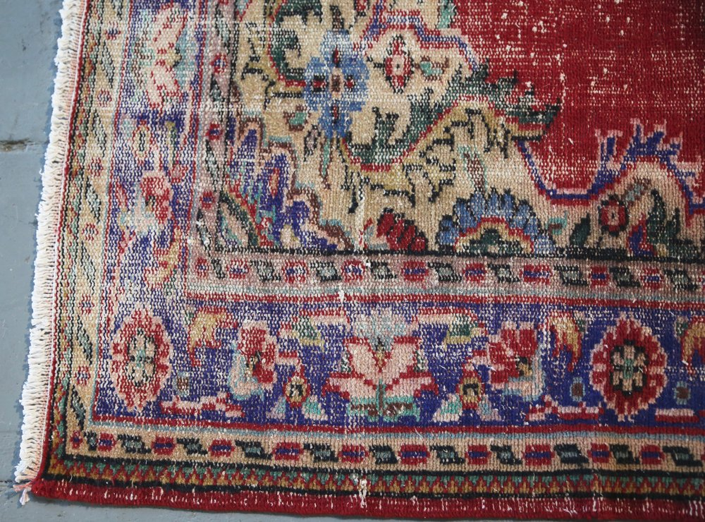 Old Ushak style Demirci Carpet 6.8ftx10.3ft