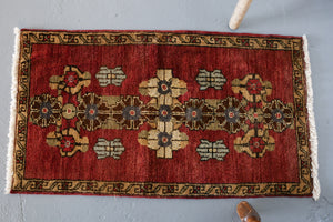 Vintage Mini Turkish Rug 1.9ftx3.1ft
