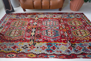 Turkish rug, vintage rug, flat weave, kilim rug, large area rug, square rug, Wild Shaman, Portland, Oregon, rug store, rug shop, local shop,  bright colors, area rug, orange rug, bold color