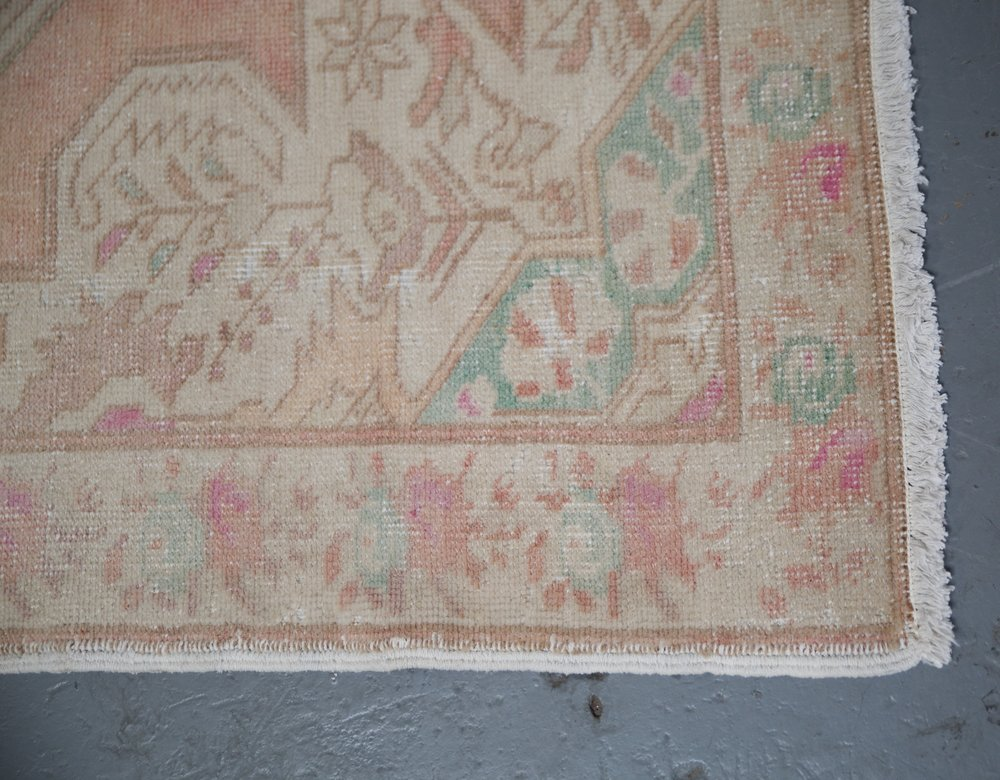 Vintage Turkish Anatolian Rug 4.7ftx7.3ft