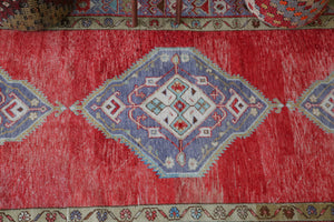 Old Anatolian Runner Rug 4.9ftx11ft