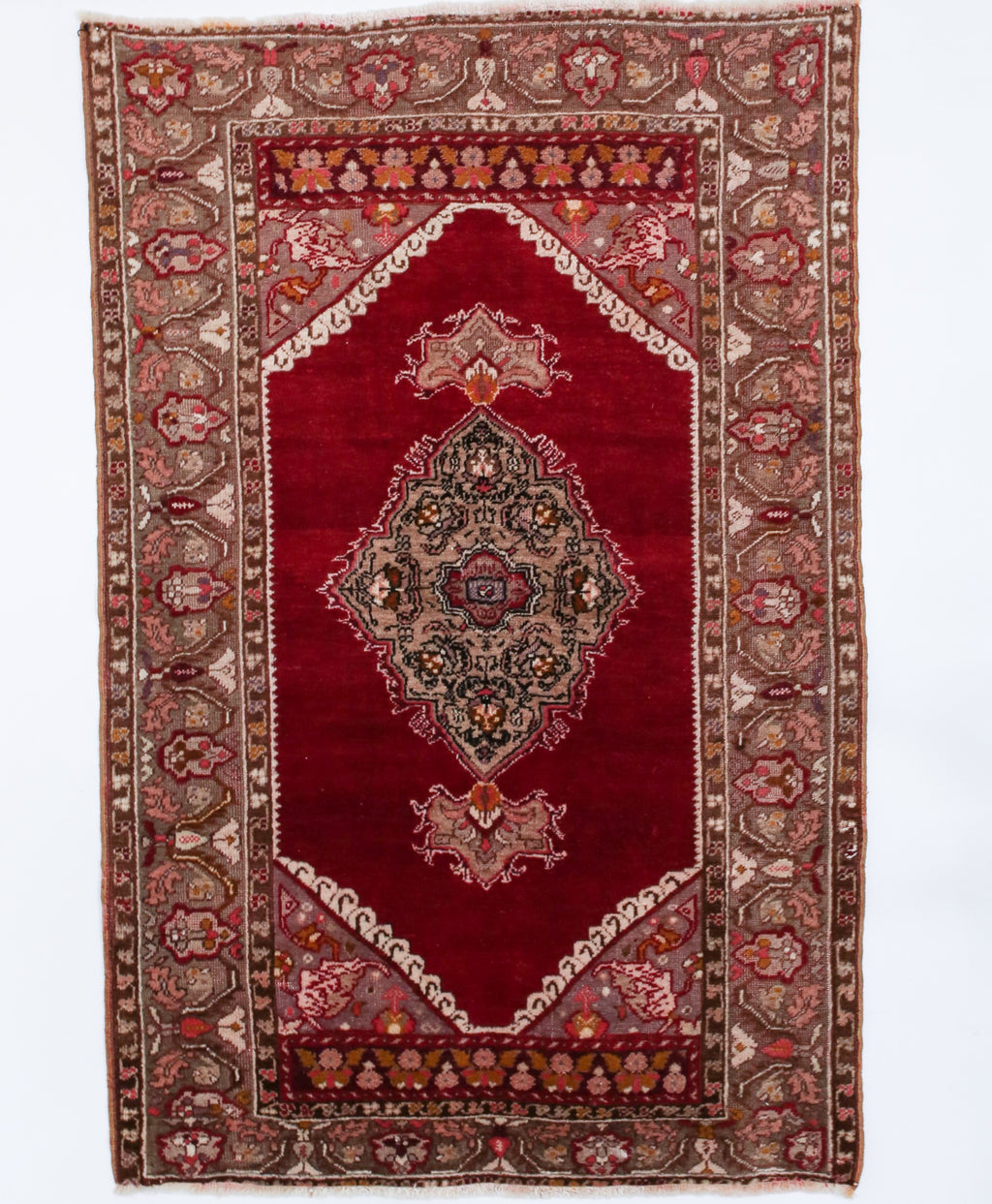 "Semi-Antique Turkish Kirsehir Rug 3'6"" x 5'4"""