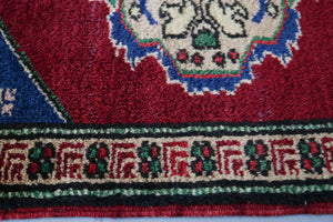 Vintage Mini Turkish Rug 1.10ftx2.10ft