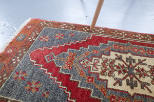Vintage Mini Turkish Rug 1.9ftx3.5ft