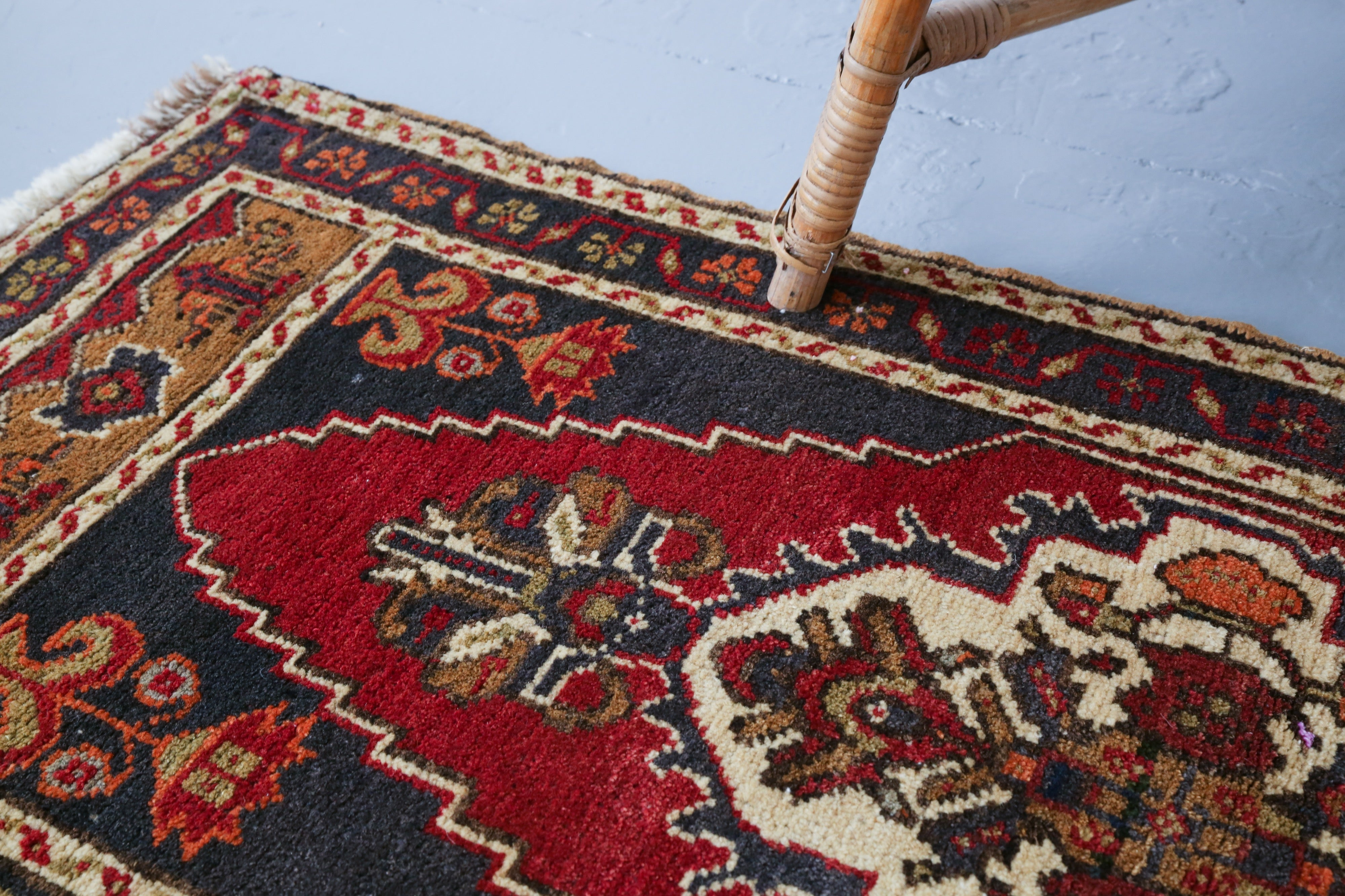 Vintage Mini Turkish Rug 1.8ftx3.5ft
